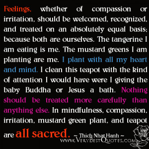 Mindfulness Quotes, compassion quotes, Thich Nhat Hanh Quotes