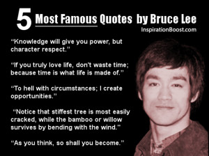 Most famous quotes from Bruce Lee