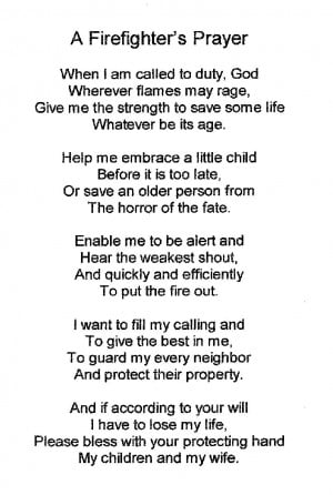 firefighter poems and quotes | Firefighters Poems and Prayers http ...