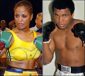 LaLa Ali / Muhammad Ali. Daughter / Father.