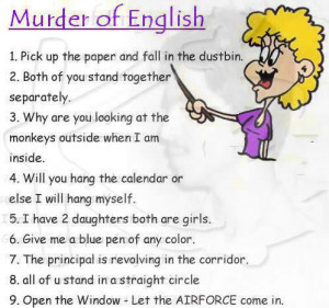 ... : Jan 24, 2012 Topic Views : 2915 Post subject: Murder Of English