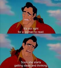 The ideal male gender type is Gaston from beauty and the Beast showing ...
