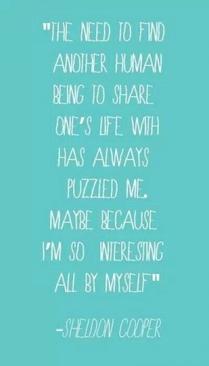 quote from Sheldon.