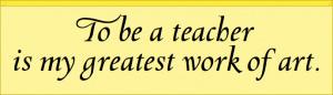 Art Teacher Quotes Beuys' quote on his art