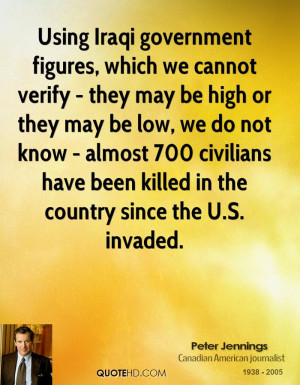 Using Iraqi government figures, which we cannot verify - they may be ...