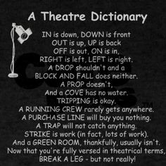 Theater Dictionary - about as confusing as math after all, huh ...