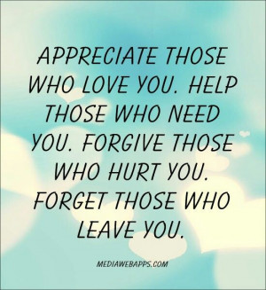 Appreciate those who love you!