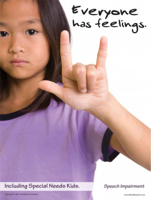 Including Special Needs Kids: Hearing Impairment, Poster