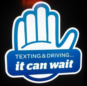 Texting & Driving!! It can wait!!