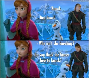Frozen - Quote - Knocking
