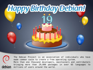 Happy Birthday Debian! And memories of an old-timer…