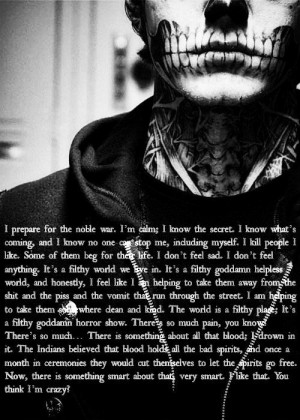 Favorite AHS quote. Tate Langdon