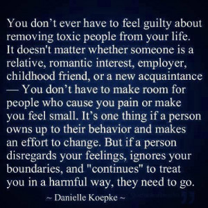 don't have to feel guilty