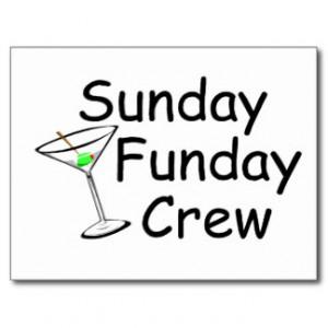 Sunday Funday Crew Martini Post Cards