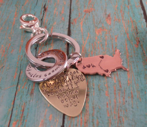 Love quotes Guitar Pick Map keychain-boyfriend/girlfriend-Valentines ...