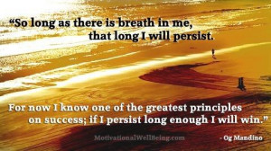 Persistence! Such a great word!