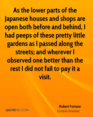 Robert Fortune Quotes
