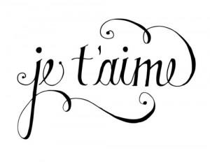 je t'aime # i love you # french