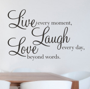 Live, Laugh, Love wall quote sticker - WA077X