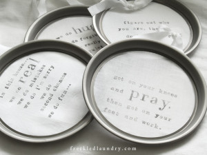 Jami's Linen Ring Quotes featuring Rockler & Canvas Corp.