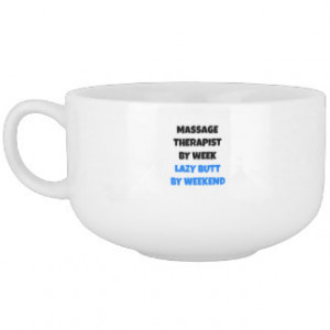Lazy Butt Massage Therapist Soup Bowl With Handle