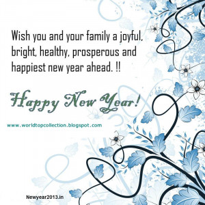 Happy New year wishes messages SmS 2013
