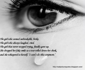 Sad Quotes with Sad Pictures