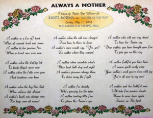 mother's day poems to lovely mom
