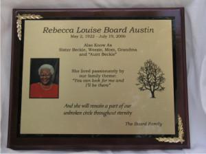 ... Personalized Plaques Memorial-Dedication Plaque-Piano Finish