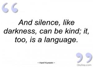 and silence hanif kureishi