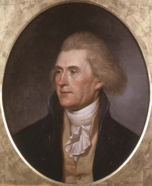 Charles Willson Peale. Thomas Jefferson Philadelphia, 1791. Copyprint ...