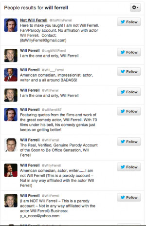 Will Ferrell Is Not On Twitter
