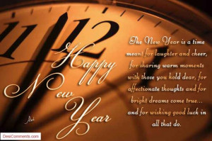 The New Year Is A Time Meant For Laughter And Cheer Happy New Year