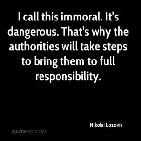 Immoral Quotes
