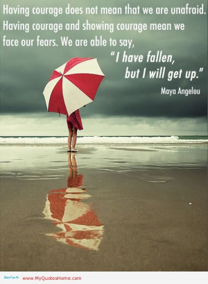 ... Mean We Face Our Fears I Have Fallen But I Will Get Up - Maya Angelou