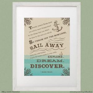 ... inspirational adventure quote nautical sailing ocean anchor decor