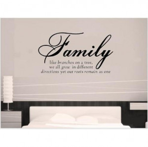 Fashion Diy Family Tree Together Love Wall Vinyl Sticker Decal Quote ...