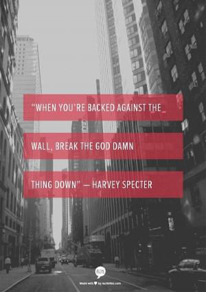 Harvey Specter is amazing! Suits!