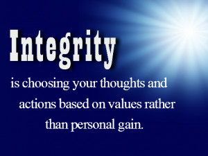 Goodness is about character – integrity, honesty, kindness ...
