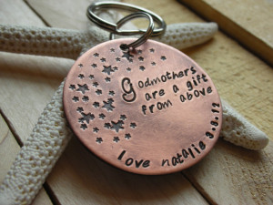 Godparent Keychain-- Gift for Godparents-Gift for Godmother-Gift for ...