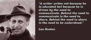 Leo rosten famous quotes 5