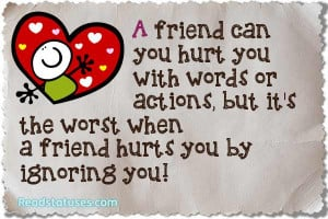 Friendship hurt status pictures and images