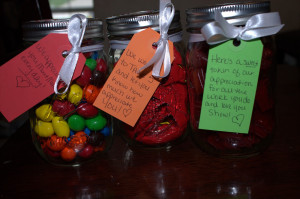 personalized each jar with a monogram sticker for each teacher!