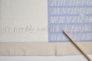 Use the straight edge and make very light pencil lines to ensure even ...