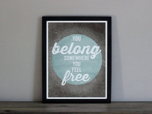 Tom Petty Wildflowers Lyrics Print - You Belong Somewhere You Feel ...
