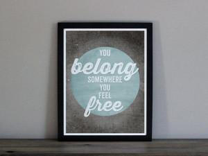 Tom Petty Wildflowers Lyrics Print - You Belong Somewhere You Feel ...