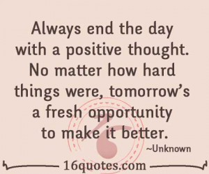 day with a positive thought quote