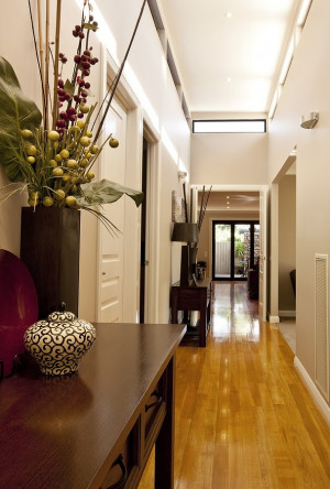 Decorating a long narrow hallway