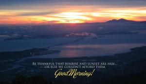 Good morning sunrise wishes marvelous