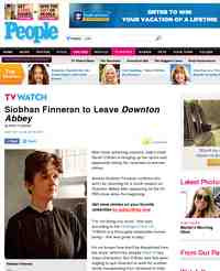 Siobhan Finneran to Leave Downton Abbey: People Magazine